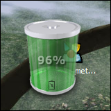 3D Battery Meter Widget