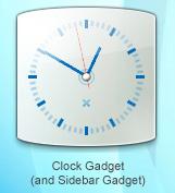 Laguna Clock Sidebar Gadget