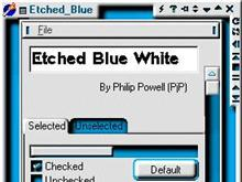 Etched Blue White