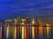 Night Miami Skyline Dream
