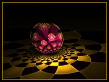 Flowers and The Disco Ball by n8iveattitude1