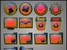 GAMMA BURST DOCK ICONS