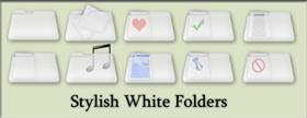 Stylish White Folder