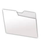 closed folder in silver