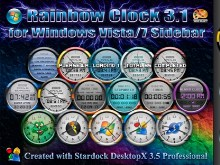 Rainbow Clock 3