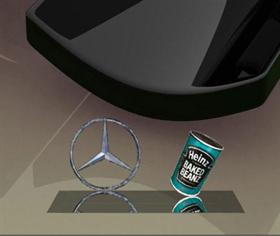 Mercedes Star - Reflecting and Rotating