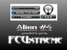 Alien Black on White Digital Clock