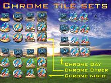 Chrome tile set