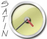 Yellow Satin Clock