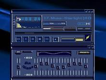 Blue Glass Winamp