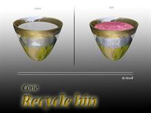 Cone Recycle bin