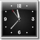 Glossy Square Clock