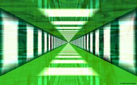 Long Green Hallway