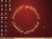 LOTR Desktop, with LOTR Elven.