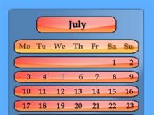 Orange Spectrum Calendar