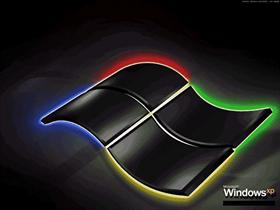 Windows XP Professional Black+Neon