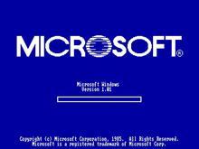 Windows 1.01 with progress bar