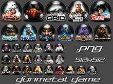 Gun Metal Game Icons 4