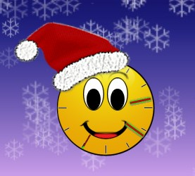 Santa Smiley Clock