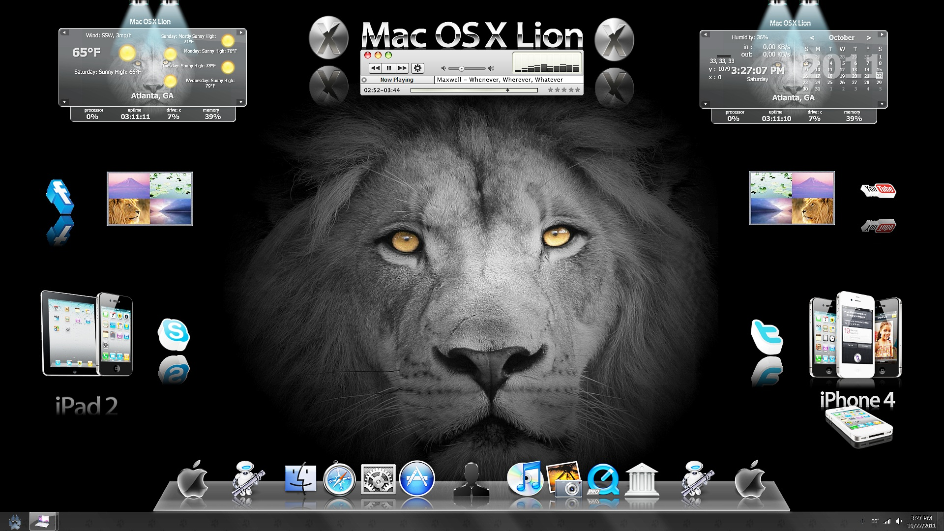 Manipulated wallpaper for mac os x lion