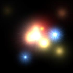 Animated 3D icon Particles of Lights 