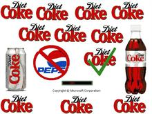 Diet Coke anti Pepsi