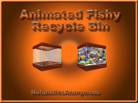 Animated Fishy Recycle Bin