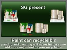 paint can recycle bin