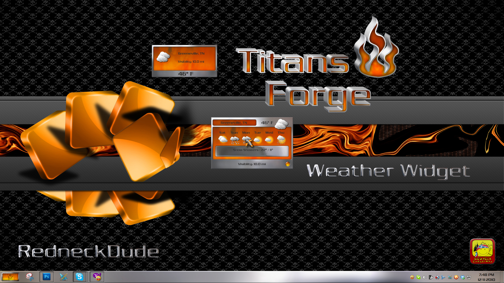 Titan's Forge Weather Widget