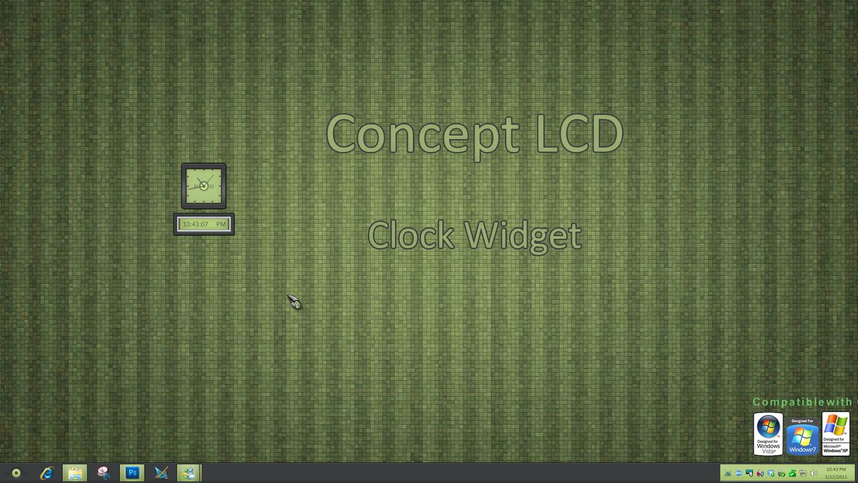 Concept LCD Clock Widget