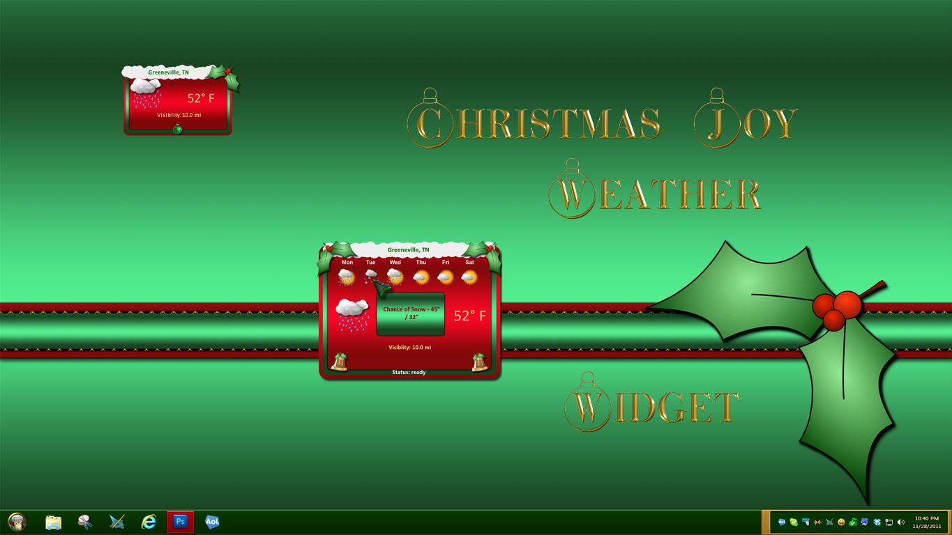 Christmas Joy Weather Widget