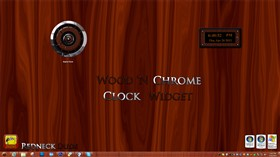 Wood &#39;N Chrome Clock Widget