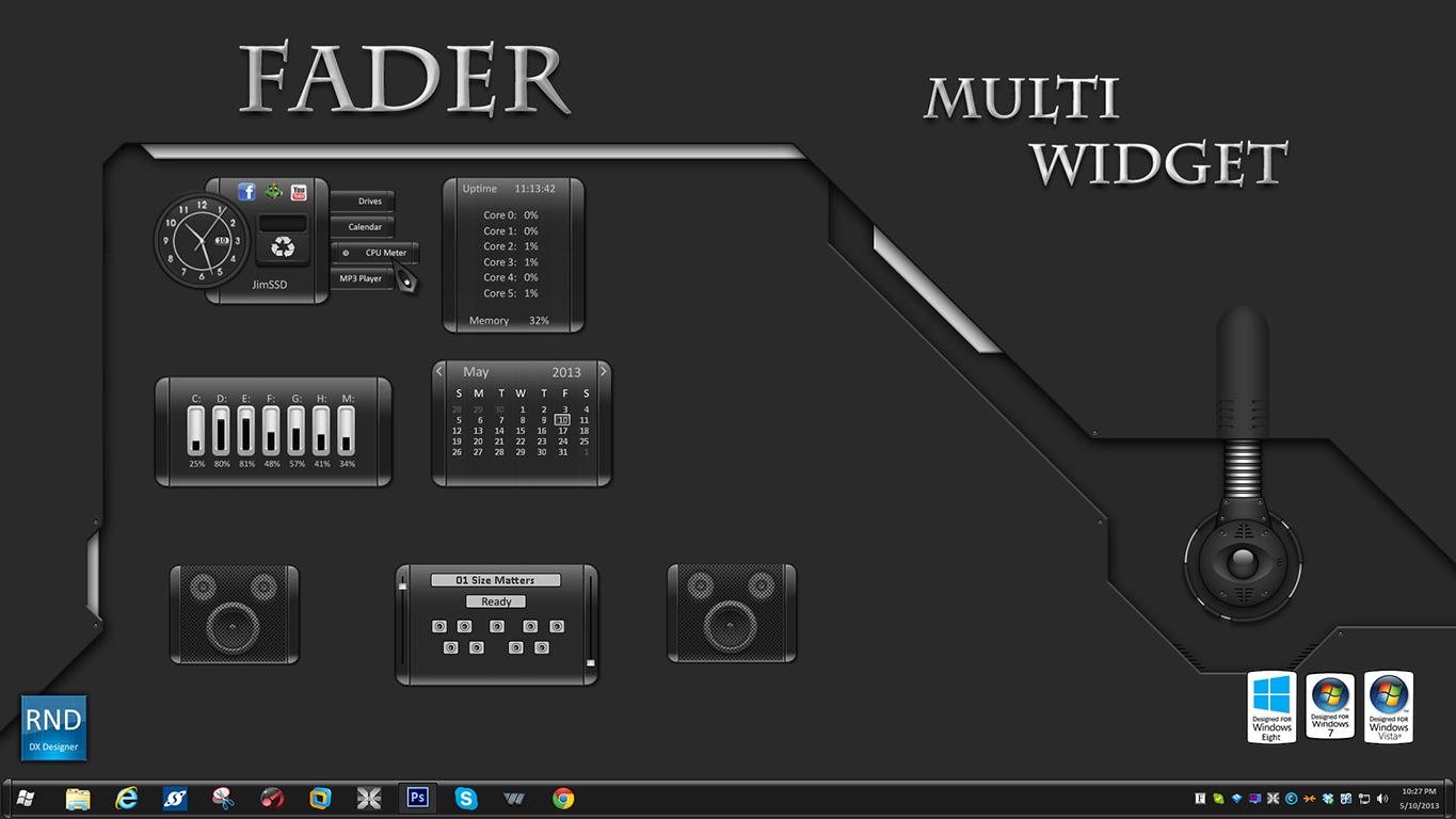 Fader Multi Widget