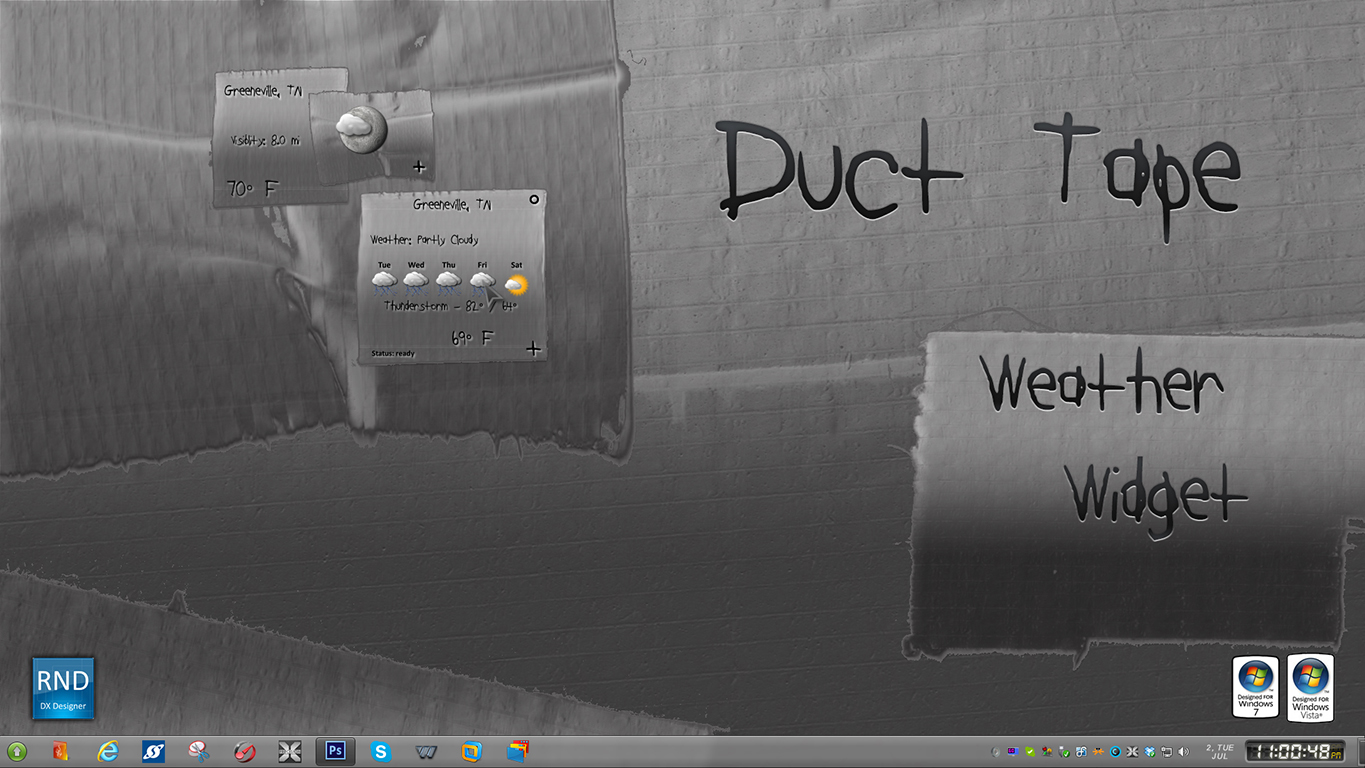 Duct Tape Weather Widget