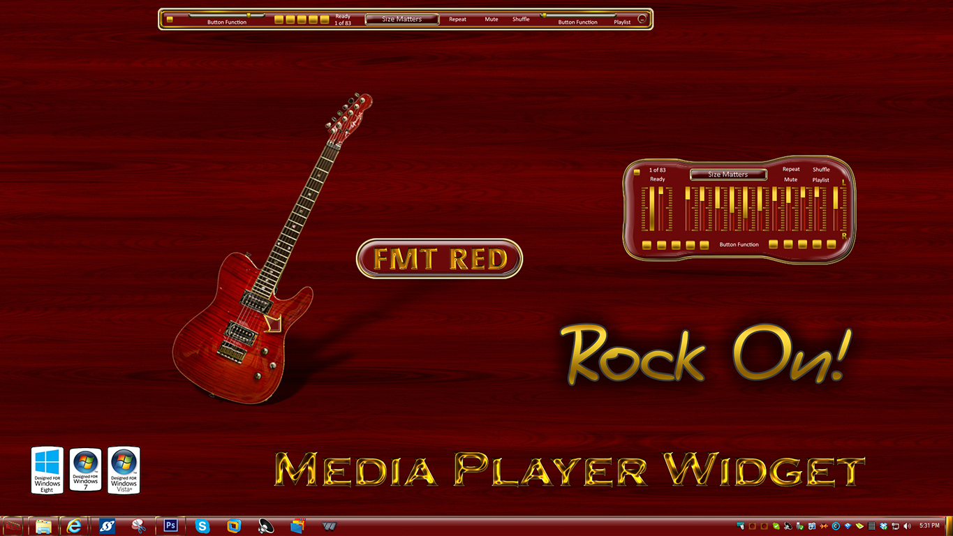 FMT Red Media Player Widget