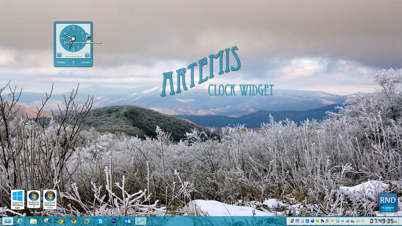 Artemis Clock Widget