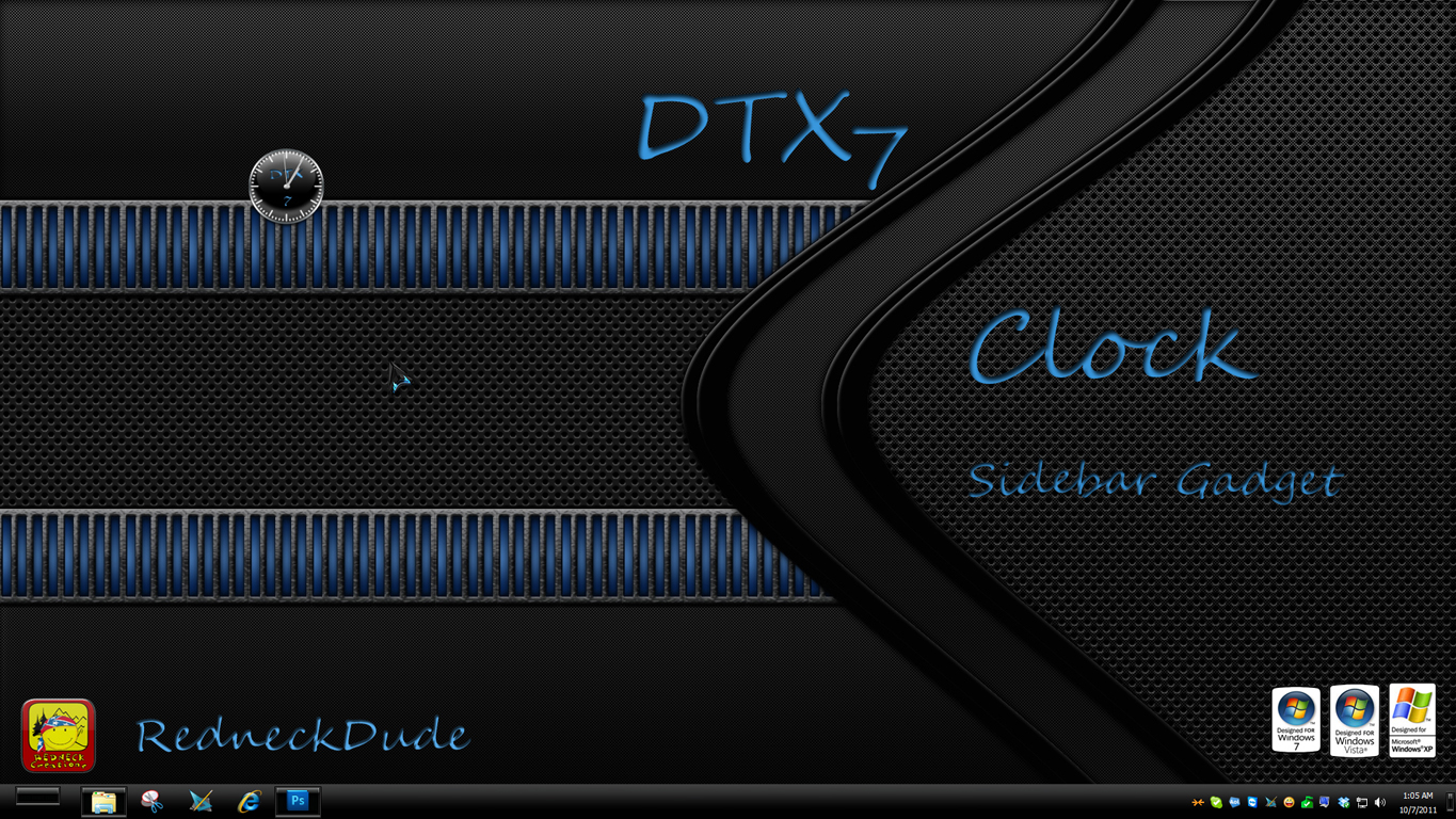 DTX 7 Sidebar Clock