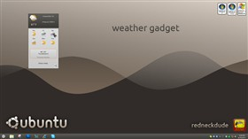 ubuntu 11 weather gadget