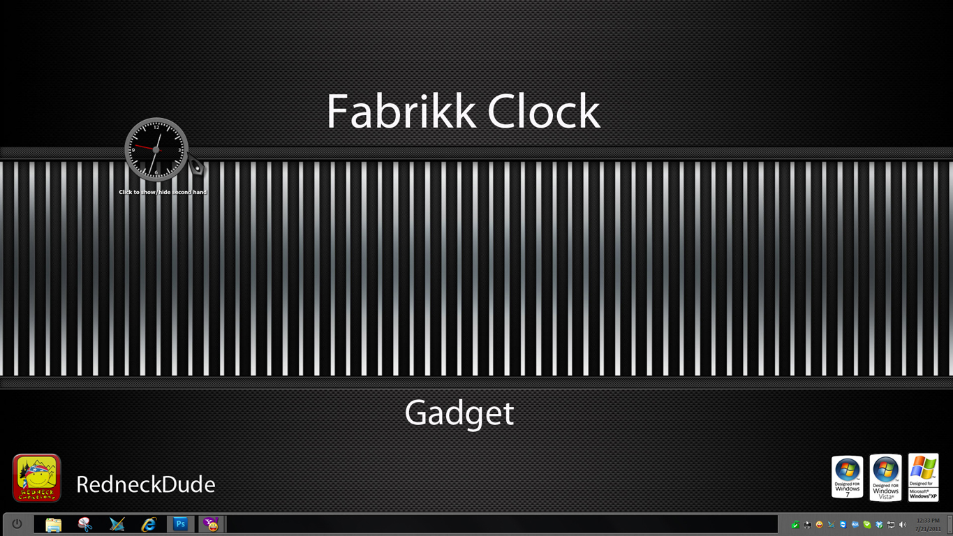 Fabrikk Clock Gadget