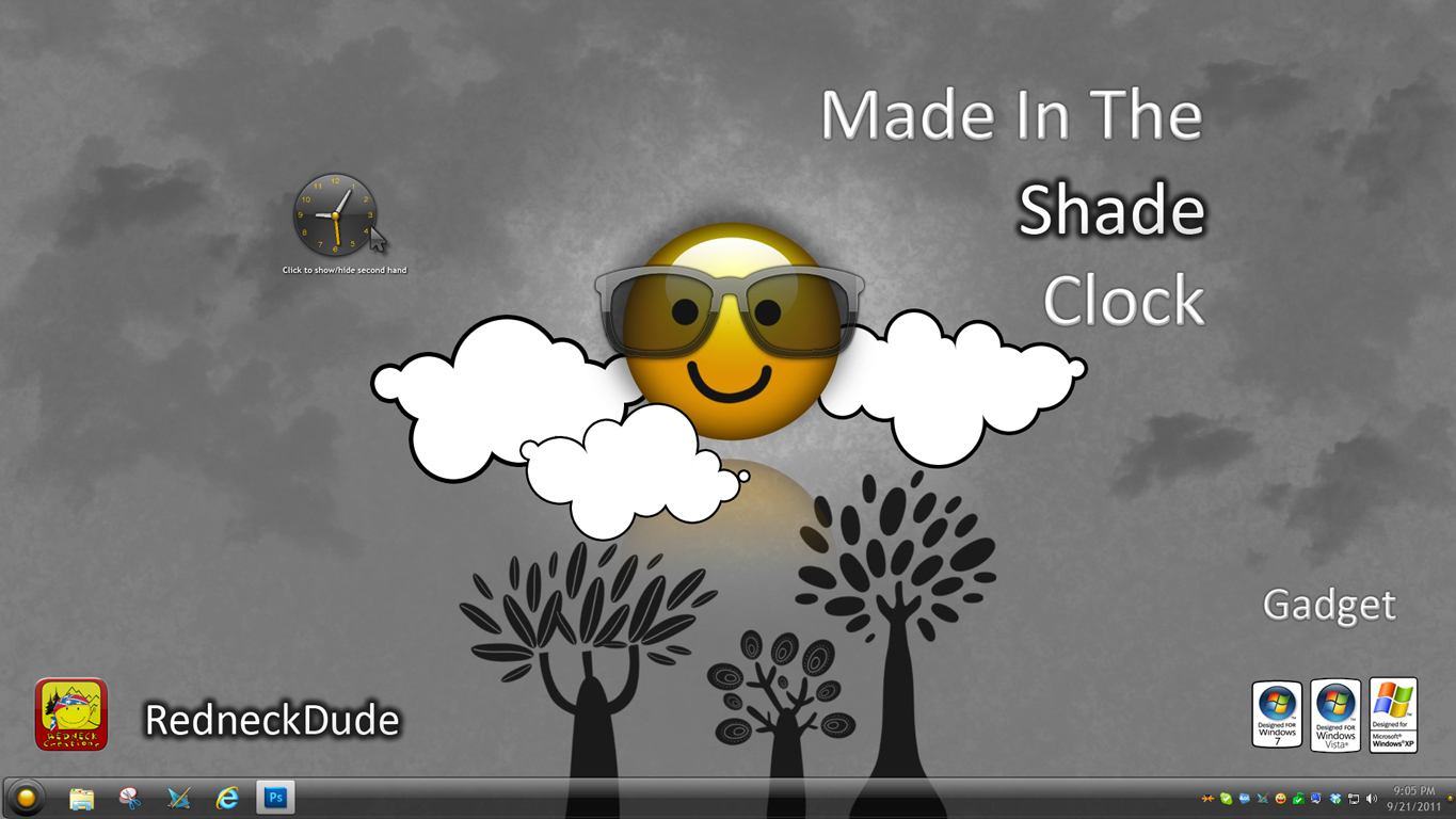 Made In The Shade Clock Gadget