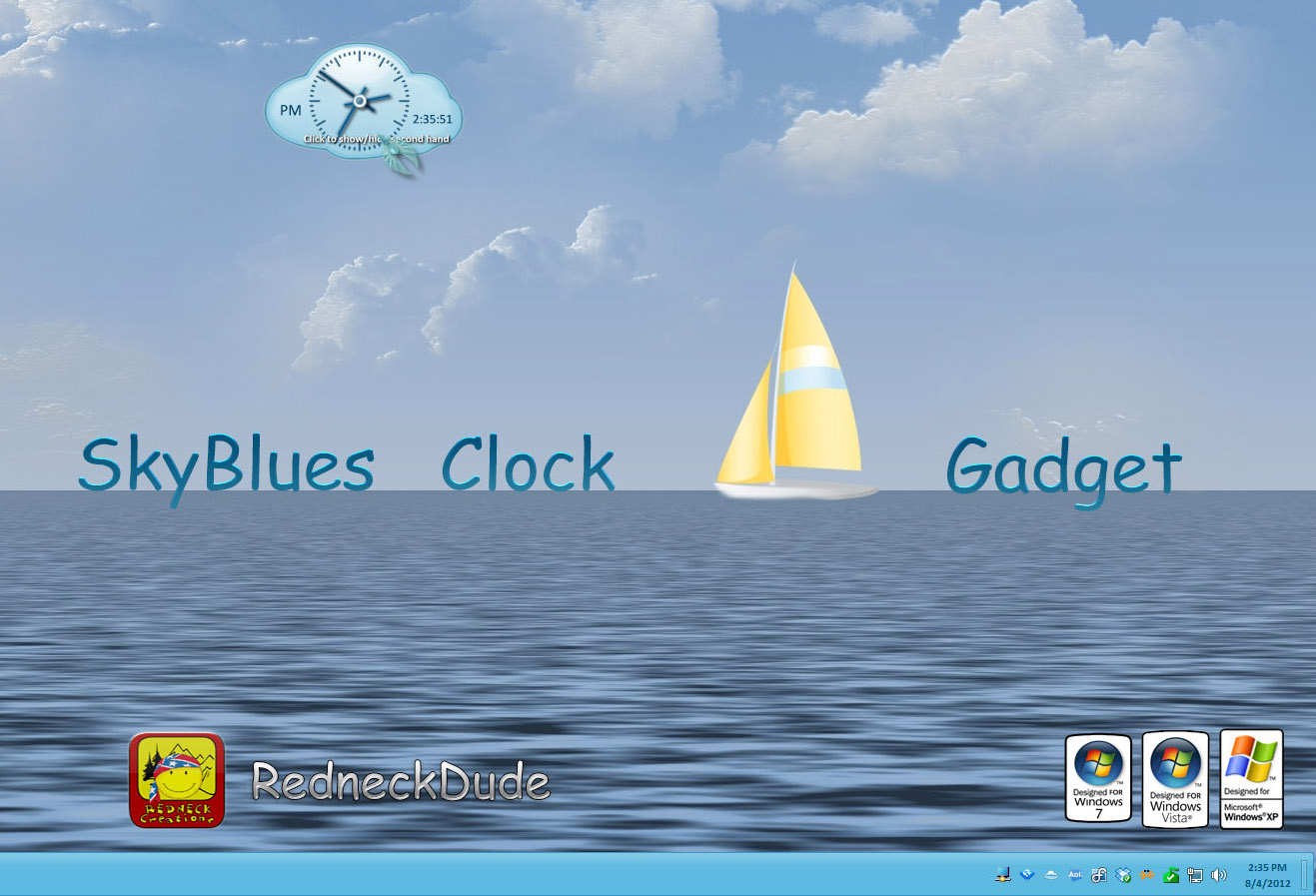 SkyBlues Clock Gadget