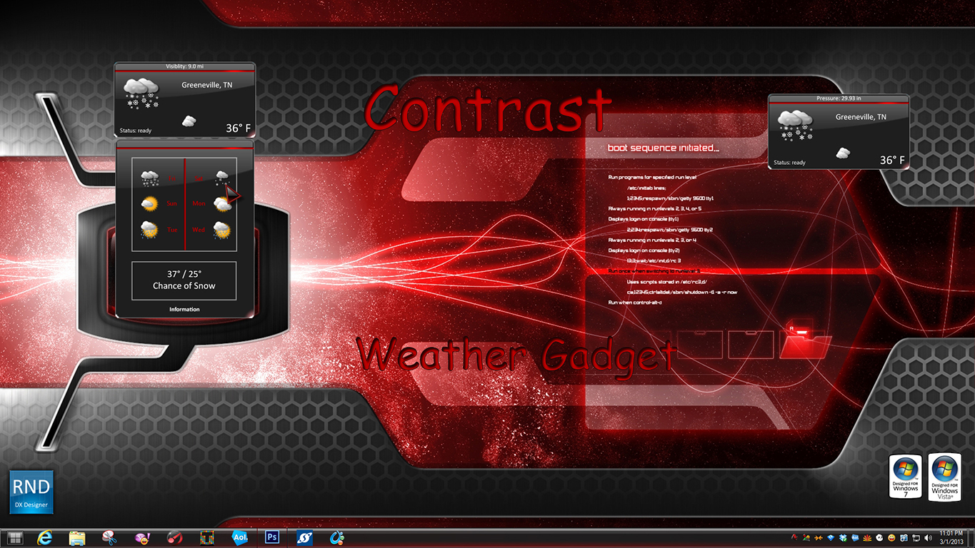 Contrast Weather Gadget
