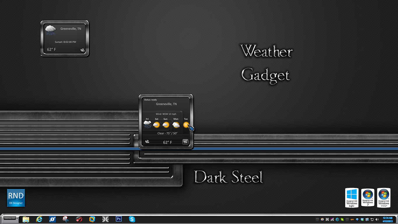 Dark Steel Weather Gadget
