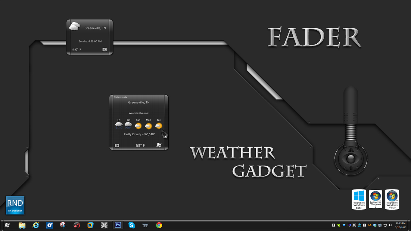 Fader Weather Gadget