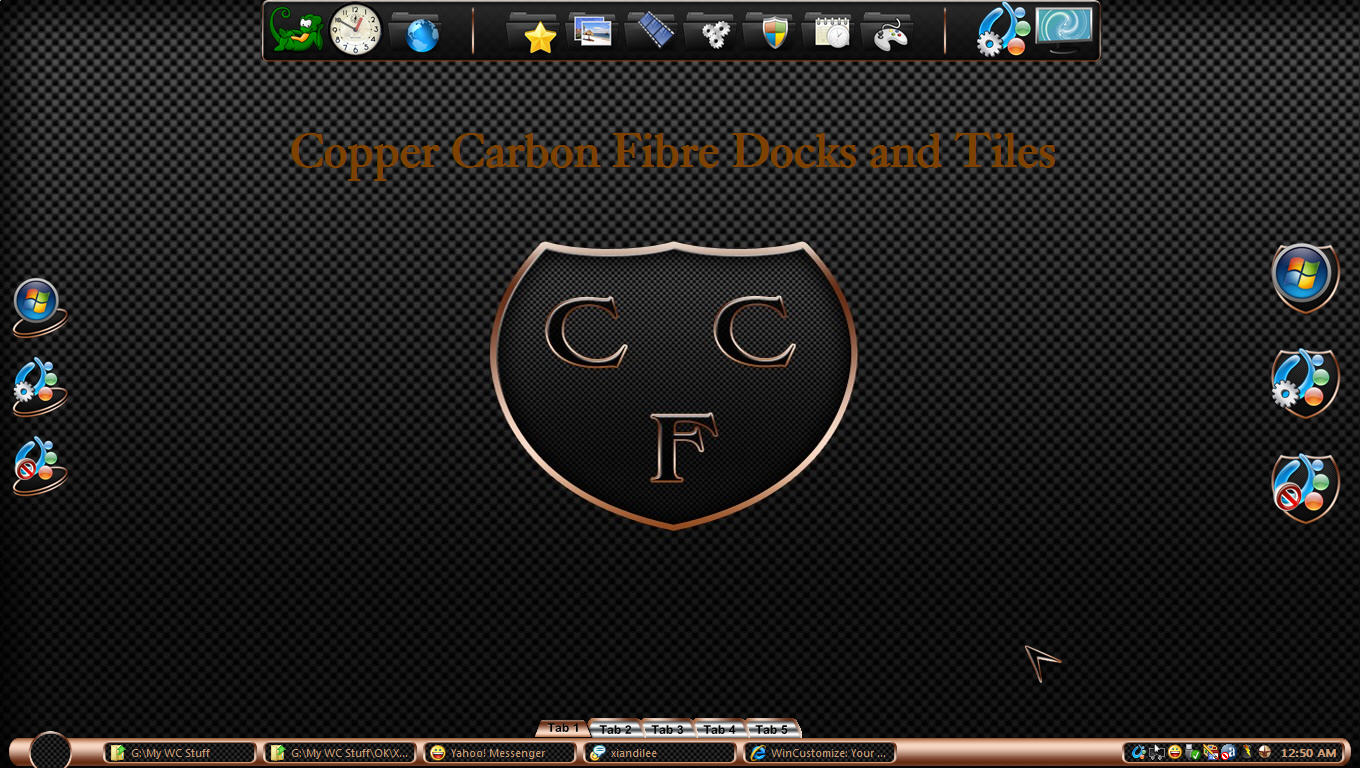 Copper Carbon Fibre Tiles