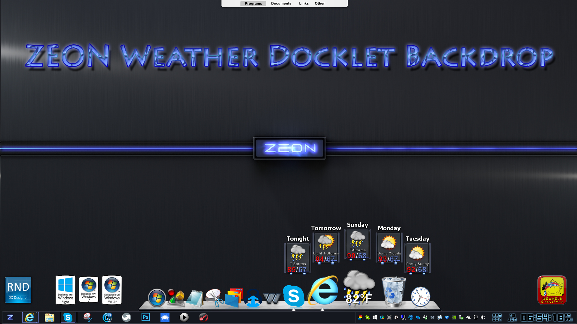 Zeon Weather Docklet Backdrop