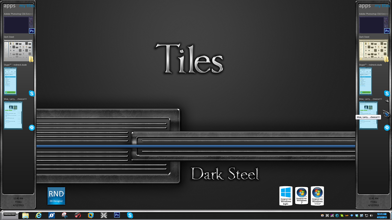 Dark Steel Tiles