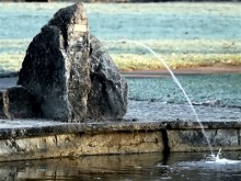 old pond rock fountain
