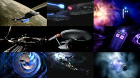 Star Trek Ships + TARDIS