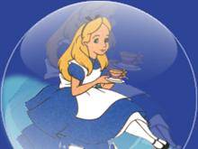 Alice in a glass sphere